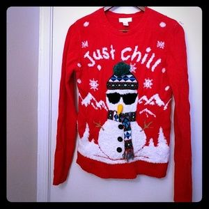 Just Chill ugly Christmas sweater